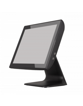 "KT-800 LED FT, Touch POS 15"" capacitive, J1900N Quad Core 1,97Gh, SSD 64Gb Msata, 4Gb RAM, 2x20 LCD built in, black"