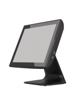 "KT-800 LED FT, Touch POS 15"" capacitive, J1900N Quad Core 1,97Gh, SSD 64Gb Msata, 4Gb RAM, 2x20 LCD built in, black, Win 10 LTSC"