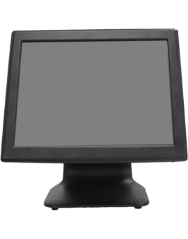"KT-800 LED LC,  Touch POS 15"" resistive, Intel J1800, MSata SSD 32G, 2Gb RAM, 2x20 LCD built in, Black"